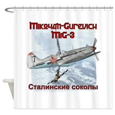 Mig-3 Stalins Falcons Shower Curtain