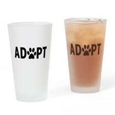 Adopt dogs Drinking Glass
