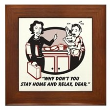 Humorous gifts for mom & dad Framed Tile