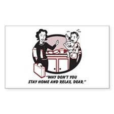 Humorous gifts for mom & dad Rectangle Decal