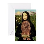 Mona's Ruby Cavalier Greeting Cards (Pk of 10)