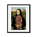 Mona's Ruby Cavalier Framed Panel Print