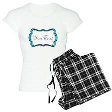 Personalizable Teal Black White Pajamas