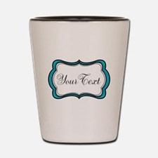 Personalizable Teal Black White Shot Glass