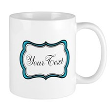 Personalizable Teal Black White Mugs