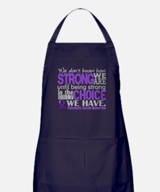 Pancreatic Cancer HowStrongWeAre Apron (dark)