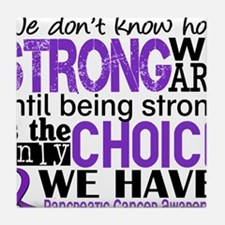 Pancreatic Cancer HowStrongWeAre Tile Coaster