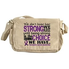 Pancreatic Cancer HowStrongWeAre Messenger Bag