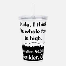 Boulder High Town Acrylic Double-wall Tumbler