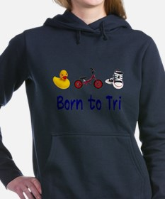 Born to Tri Women's Hooded Sweatshirt