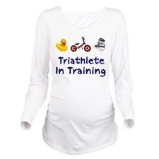 Triathlete in Training Long Sleeve Maternity T-Shi
