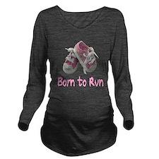 Cute Marathon Long Sleeve Maternity T-Shirt