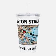 Boston Strong Map Acrylic Double-wall Tumbler