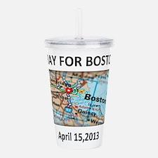 Pray For Boston Map Acrylic Double-wall Tumbler