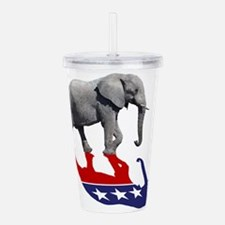 Republican Elephant Shadow Acrylic Double-wall Tum