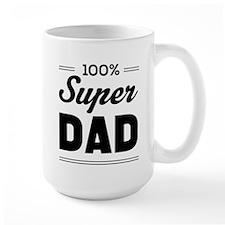 100% super dad Mugs