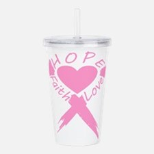 Faith Hope Love Heart Acrylic Double-wall Tumbler