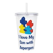 Love Aspergers Son Acrylic Double-wall Tumbler