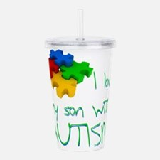 Autistic son Acrylic Double-wall Tumbler