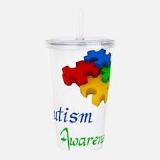 Autism Awareness Acrylic Double-wall Tumbler