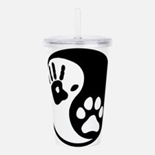 Human & Dog Yin Yang Acrylic Double-wall Tumbler