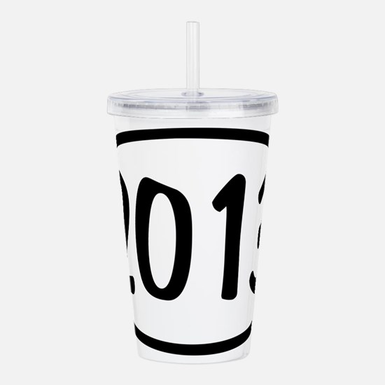 2013 Oval Acrylic Double-wall Tumbler