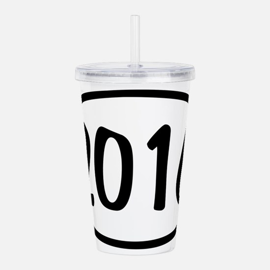 2016 Oval Acrylic Double-wall Tumbler