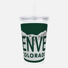 Denver Colo License Plate Acrylic Double-wall Tumb