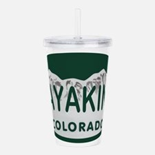 Unique State license Acrylic Double-wall Tumbler