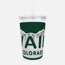 Vail Colo License Plate Acrylic Double-wall Tumble