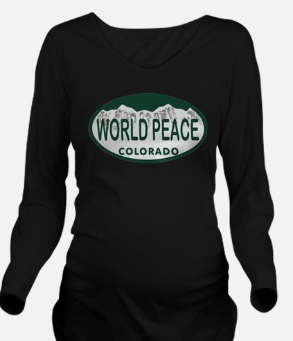 Unique Whirled peas Long Sleeve Maternity T-Shirt