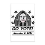 Vote 2004 B&W Mini Poster Print