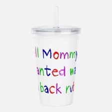 Cute Rub Acrylic Double-wall Tumbler