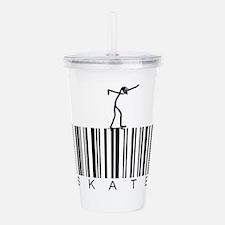 Bar Code Skate Acrylic Double-wall Tumbler