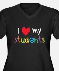 I Heart My Students Teacher Love Plus Size T-Shirt