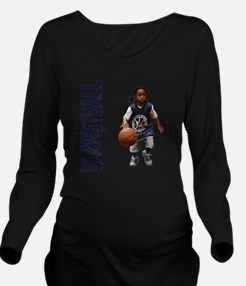 Unique Streetball Long Sleeve Maternity T-Shirt