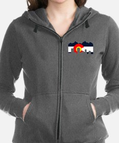 CO_Flag2_Navy.png Women's Zip Hoodie