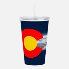 CO_Flag_Mountain.png Acrylic Double-wall Tumbler