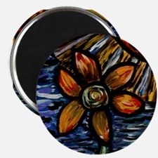Abstract Flower Magnets