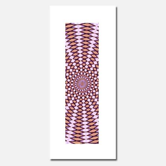 Optical Illusion Movement in Pink Purple and Orang
