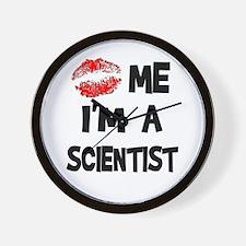 Kiss Me I'm A Scientist Wall Clock