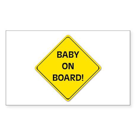 baby on board sicker (rectangular)