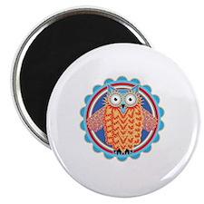 Tribal Owl Magnet