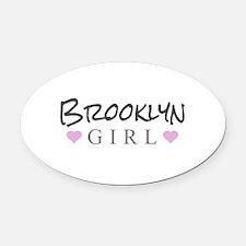 Brooklyn Girl Oval Car Magnet