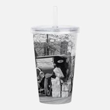 Funny Model t ford Acrylic Double-wall Tumbler