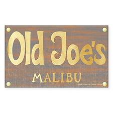 Old Joe's Malibu Rectangle Decal