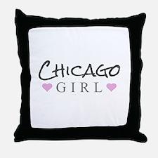 Chicago Girl Throw Pillow