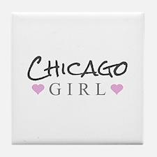 Chicago Girl Tile Coaster