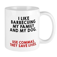 I like barbecuing my family Mug