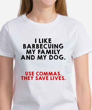 I like barbecuing my family Women's T-Shirt